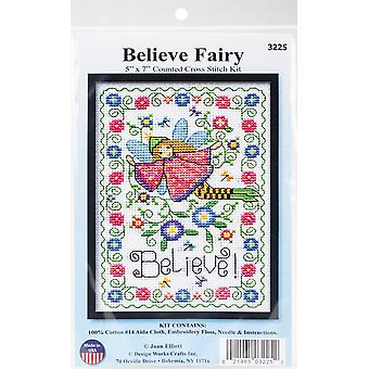 Believe Fairy Counted Cross Stitch Kit-5
