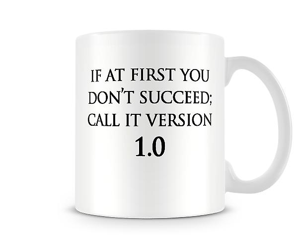 Version 1 Printed Mug