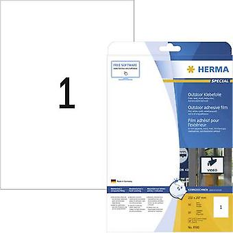 Herma 9500 Labels 210 x 297 mm PE film White