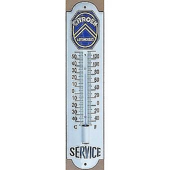 Citroen Service (White) Vitreous Enamel Steel Thermometer