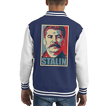 Stalin Hope Parody Kid's Varsity Jacket