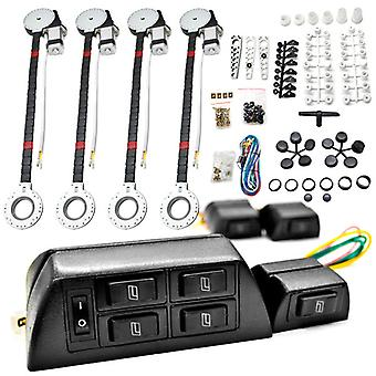 4x Car Window Automatic Power Kit Electric Roll Up For Chevy Sonora Sprint Tahoe Trailblazer Venture Volt