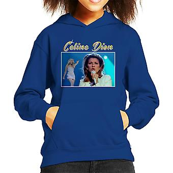 Celine Dion Tribute Montage Kid's Hooded Sweatshirt