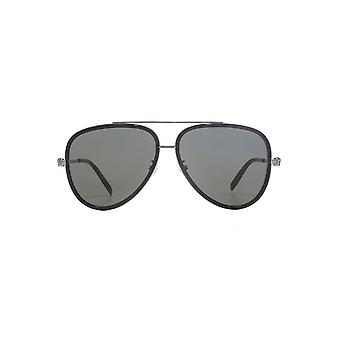 Alexander McQueen Iconic Skull Pilot Sunglasses In Ruthenium Black