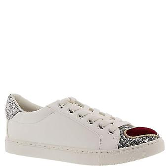Betsey Johnson Womens blair Leather Low Top Lace Up Fashion Sneakers