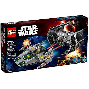 LEGO Vader's TIE Advanced 75150 vs. A-Wing Starfighter