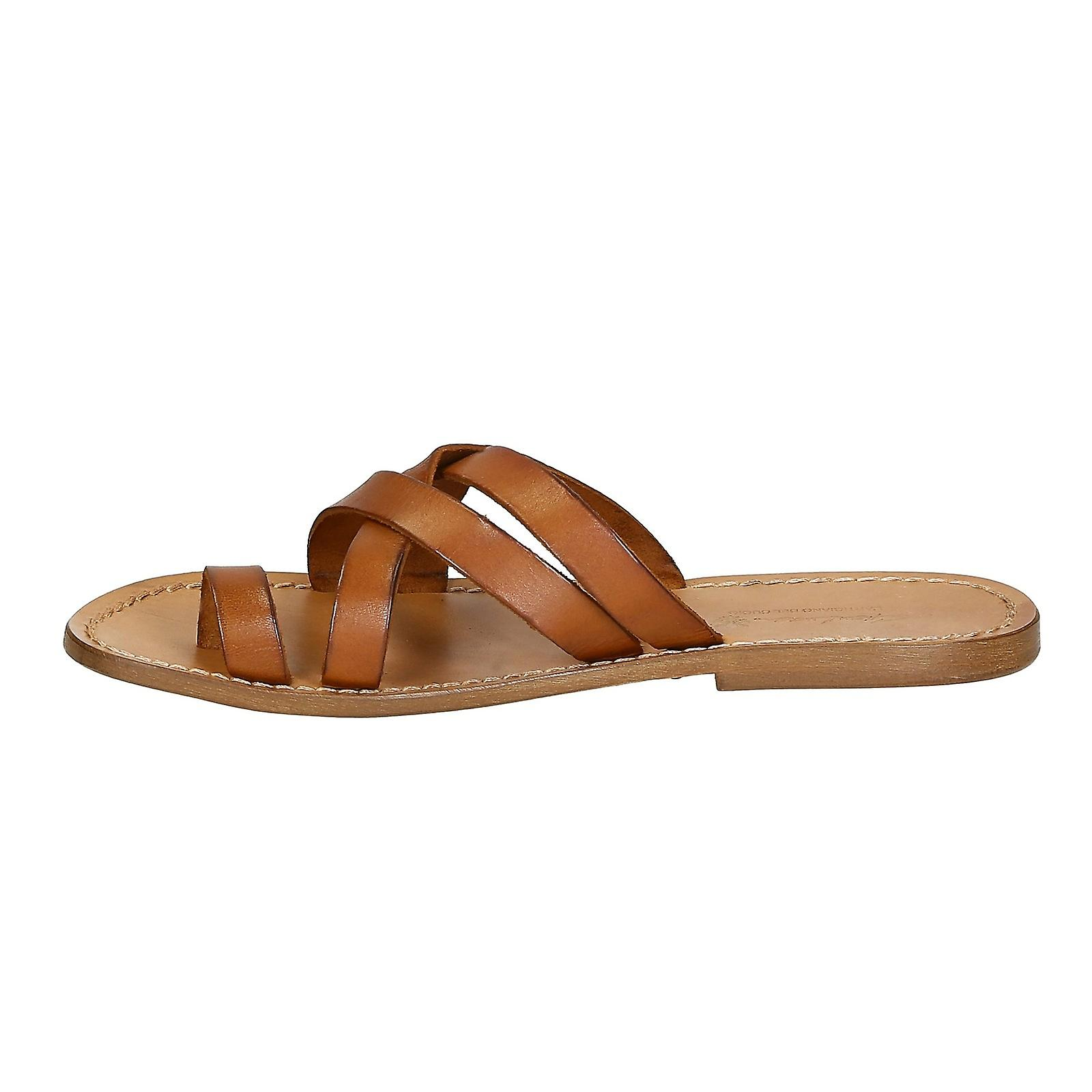 9dee15740 Mens leather thong sandals handmade in Italy in vintage cuir leather ...