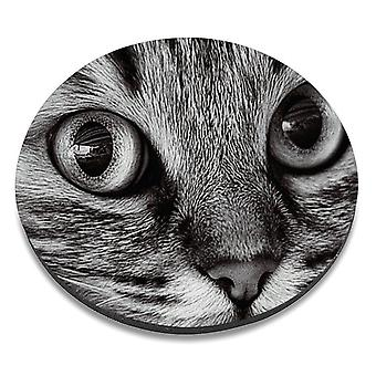 i-Tronixs - Cat Printed Design Non-Slip Round Mouse Mat for Office / Home / Gaming - 18
