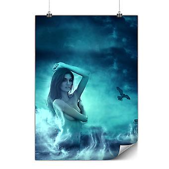 Matte or Glossy Poster with Sexy Stylish Girl | Wellcoda | *y1793