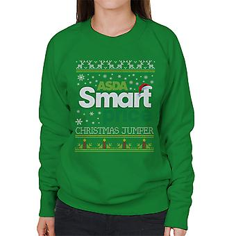 Asda Smart Price Christmas Jumper Knit Pattern Women's Sweatshirt