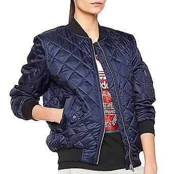 adidas Originals Womens Bomber Trefoil Casual Fashion Quilted long Sleeve Jacket