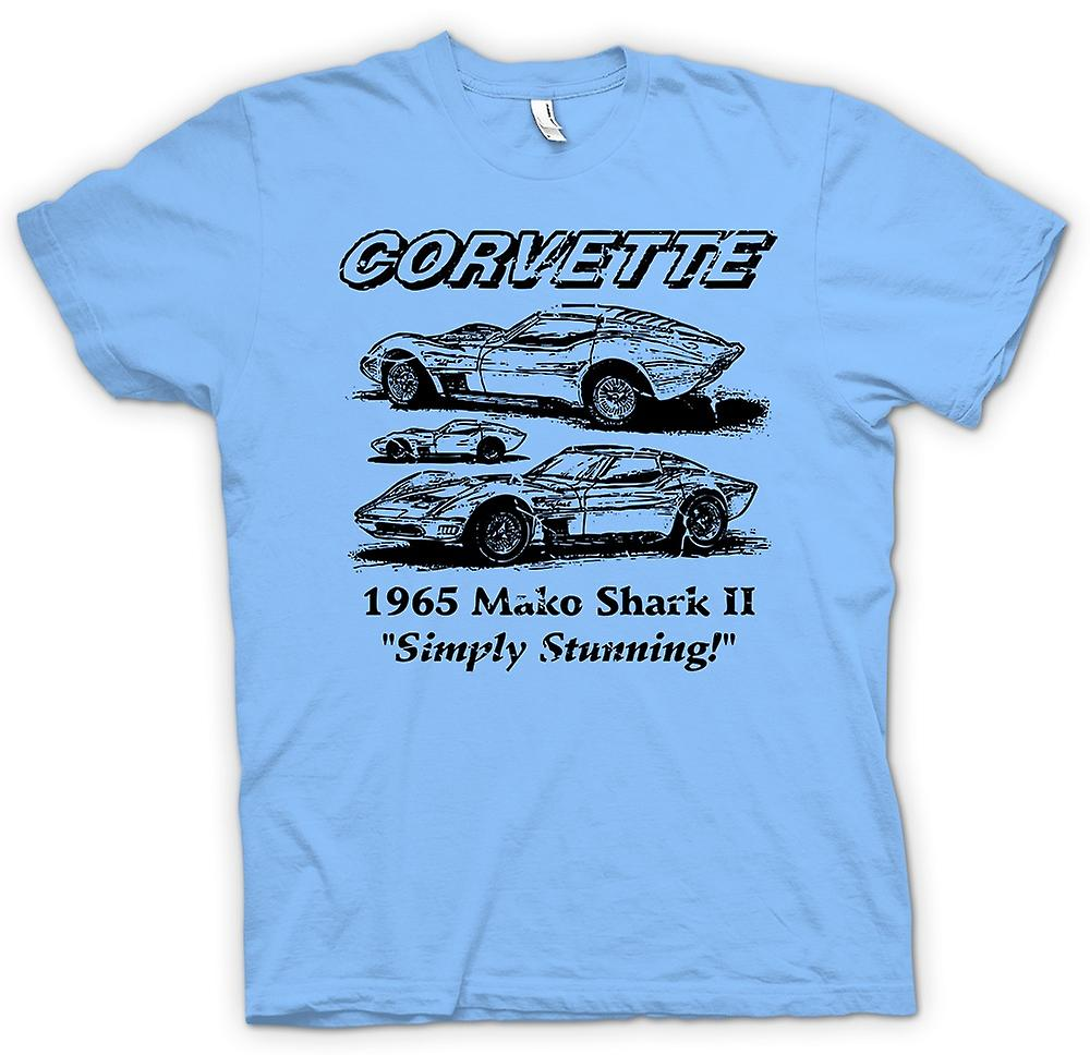 Hommes T-shirt - Corvette Mako Shark II - Classic Car