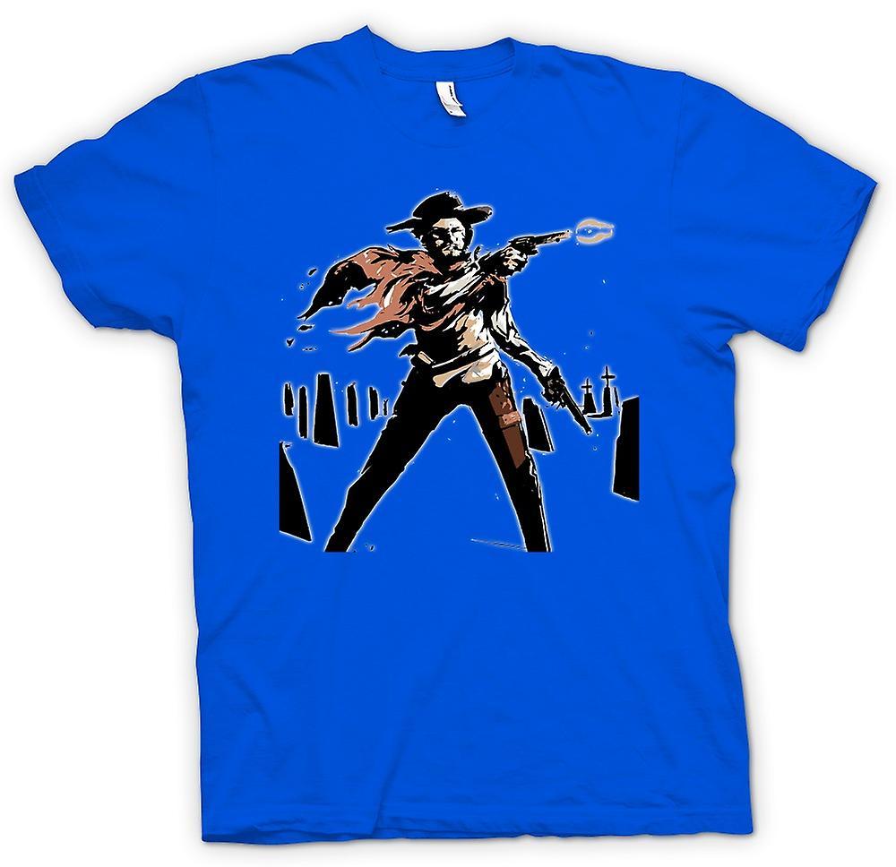 Mens t-skjorte-Spaghetti Western - Cowboy - skisse