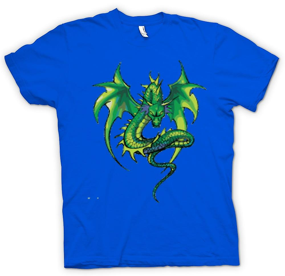 Hommes T-shirt - Green Dragon design dessin