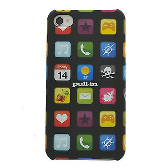 Pull-In Black-Multi iKone iPhone 4-4s Case
