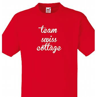 Team Swiss cottage Red T shirt