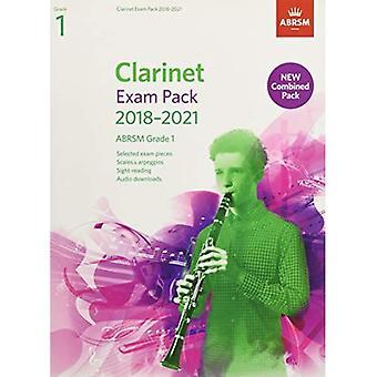 Klarinett-examen Pack 2018-2021, ABRSM grad 1: Utvalda från 2018-2021 kursplanen. Poäng & del, Audio nedladdningar, skalor & Sight-läsning (ABRSM examen bitar)