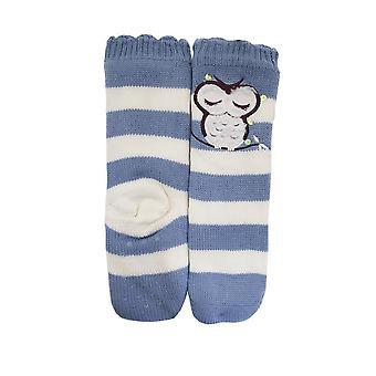 Ladies Foxbury Owl Bed Slipper Socks SK405