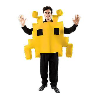 Orion Costumes Unisex Yellow Space Arcade Game 80s Retro Fancy Dress Costume
