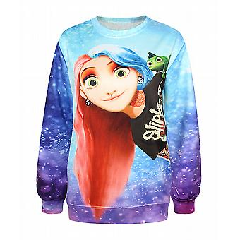 Waooh - Sweatshirt printed Rapunzel punk rhot