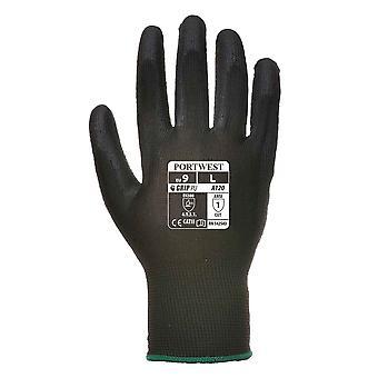 Portwest Mens venta calibrador 13 alineado PU guantes de Palma (paquete de 1 par)