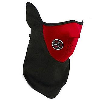 TRIXES Red Neoprene & Fleece Half Face & Neck Warmer for Ski Snowboard Airsoft etc