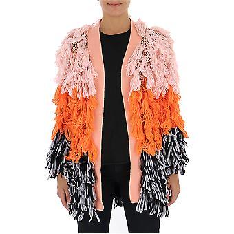 Semi-couture Multicolor Cotton Cardigan