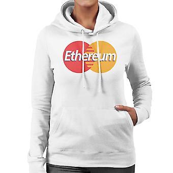 Ethereum Mastercard Logo kvinner er hette Sweatshirt