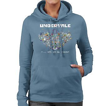 Undertale mit allen meinen Freunden Frauen das Sweatshirt mit Kapuze