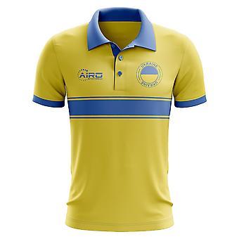 Ukraine Concept Stripe Polo Shirt (Yellow)