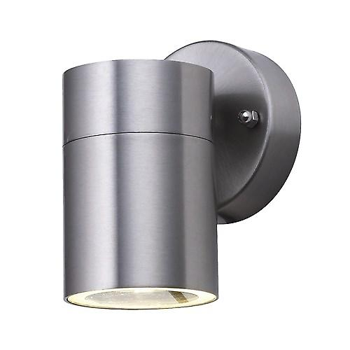 Searchlight 5008-1 Outdoor Satin Silver 1 Light Tube Wall Bracket IP44 Rated