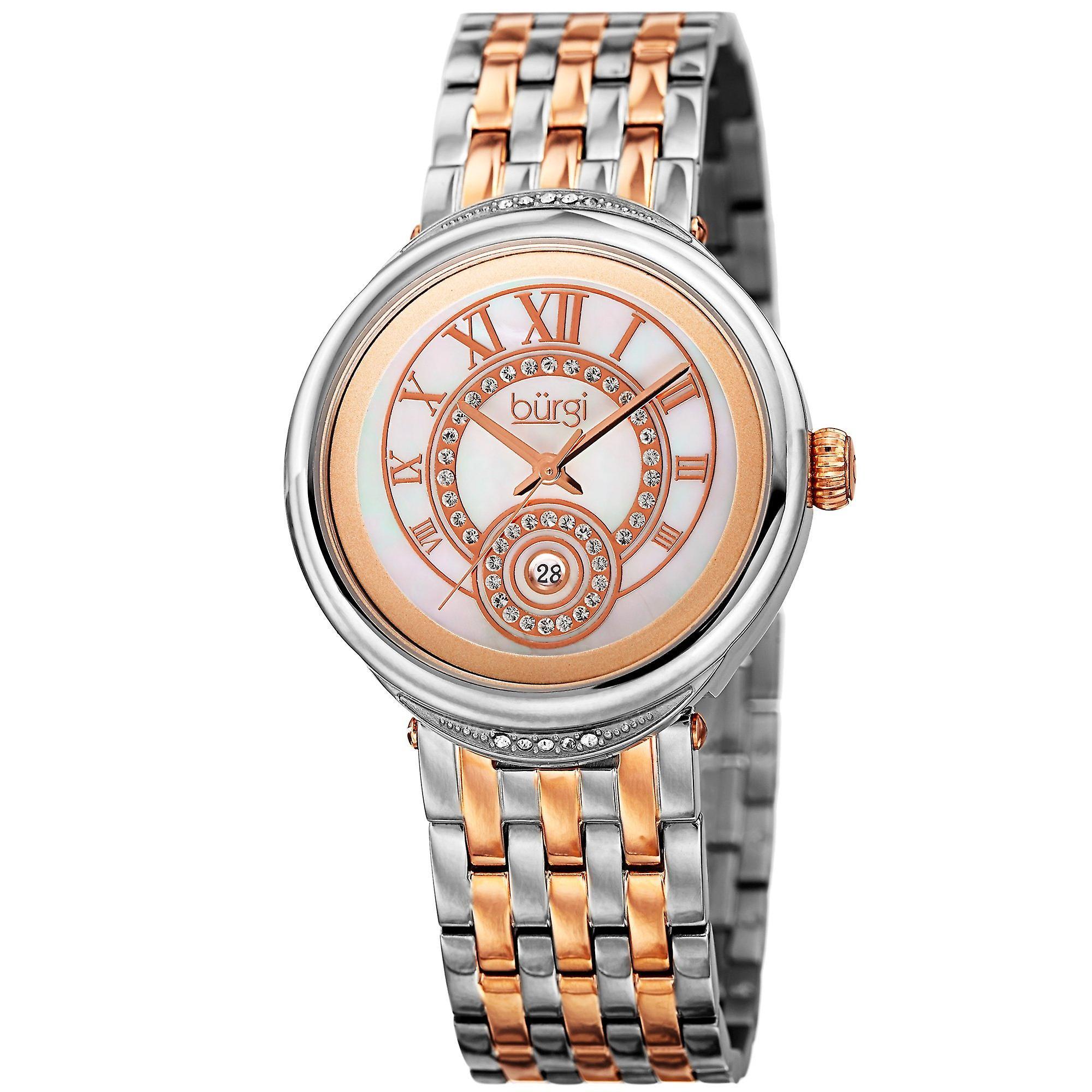 Burgi femmes&s Quartz  Mother of Pearl Dial Two-Tone Bracelet Watch BUR164TTR