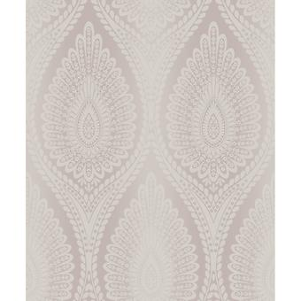 Grandeco Karla Glitter Floral Modern Moroccan Style Damask Pattern Textured Wallpaper A37103