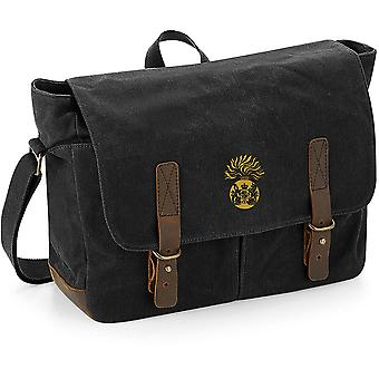 Royal Scots Fusiliers - Licensed British Army Embroidered Waxed Canvas Messenger Bag