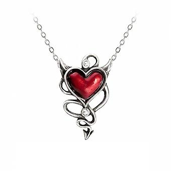 Alchemy - devil heart - pendant necklace