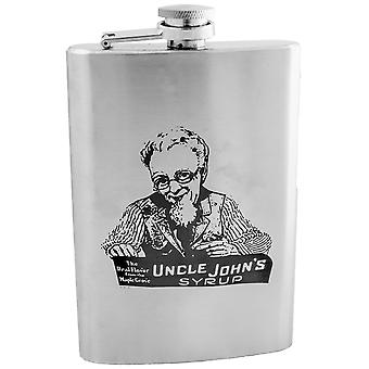 8oz uncle johns syrup flask l1