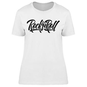 Rock And Roll Music Rock Guitar Tee Women's -Image by Shutterstock