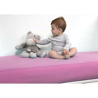 B-sensible Sábana bajera impermeable y transpirable baby para cuna rosa