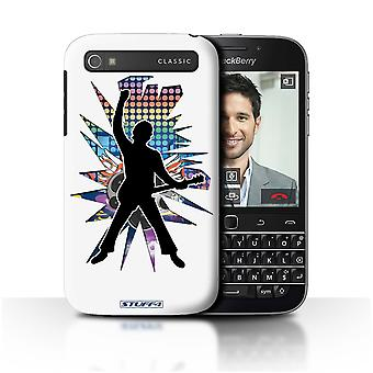 STUFF4 Case/Cover for Blackberry Classic/Q20/Windmill White/Rock Star Pose