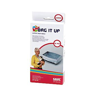 Savic Bag It Up Large Cat Litter Tray Bags (Pack Of 12)