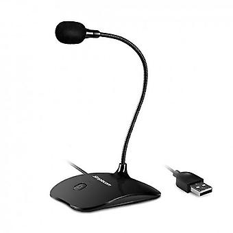 Plug and Play USB Desktop Microphone with Flexible Neck & Mute Button
