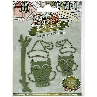 Find It Trading Yvonne Creations Magnificent Christmas Die-Christmas Owls YCD10003