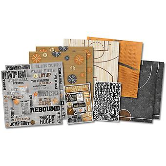 Champion de basket-ball Scrapbook Page Kit 12 « X 12 » Kf20535