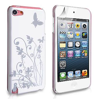 YouSave Accessories iPod Touch 5G White Butterfly IMD Hard Case