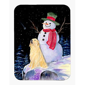 Pupazzo di neve con Golden Retriever Mouse Pad / Hot Pad / sottopentola