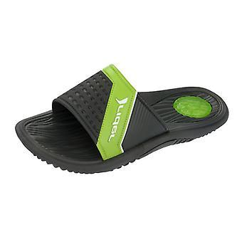 Fahrer Montana II Mens Flip Flops - Sandalen - Schwarz Lime
