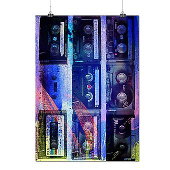 Matte or Glossy Poster with Cassette Print Art Music Music Design | Wellcoda | *q1114