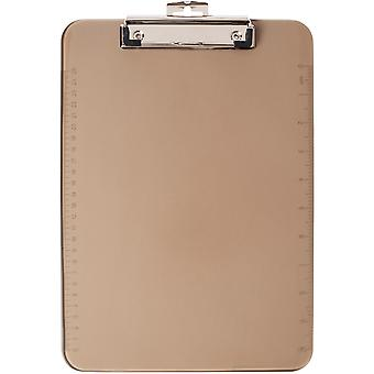 Low Profile Plastic Clipboard-Smoke CL89750