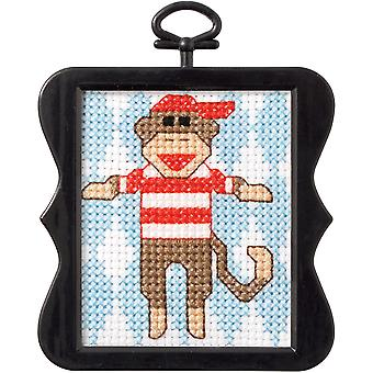 Beginner Minis Monkey Counted Cross Stitch Kit-3