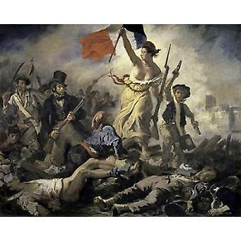 Freiheit führt die Menschen Poster Print von Eugene Delacroix